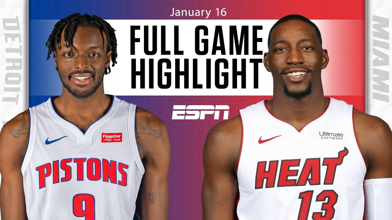 Detroit Pistons vs. Miami Heat [FULL GAME HIGHLIGHTS] | NBA on ESPN