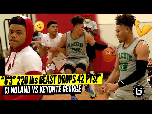 """""""DUDE IS A 6'3"""" 220lbs POINT GUARD SNAPS FOR 42PTS!"""" CJ Noland VS Keyonte George"""
