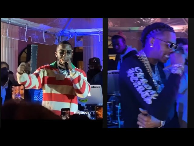 Gucci Mane, Lil Baby, Tyga perform at Birthday party — Lil Pump & Smokepurrp make an appearance