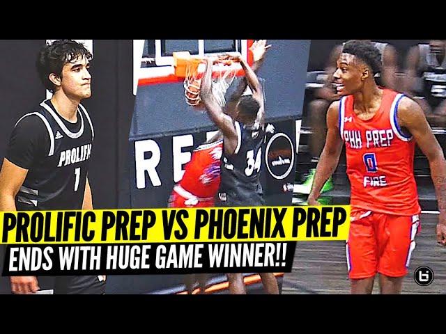 Isa Silva Has RIDICULOUS Court Vision!! Prolific Prep vs Phoenix Prep Ends in GAME WINNER!!