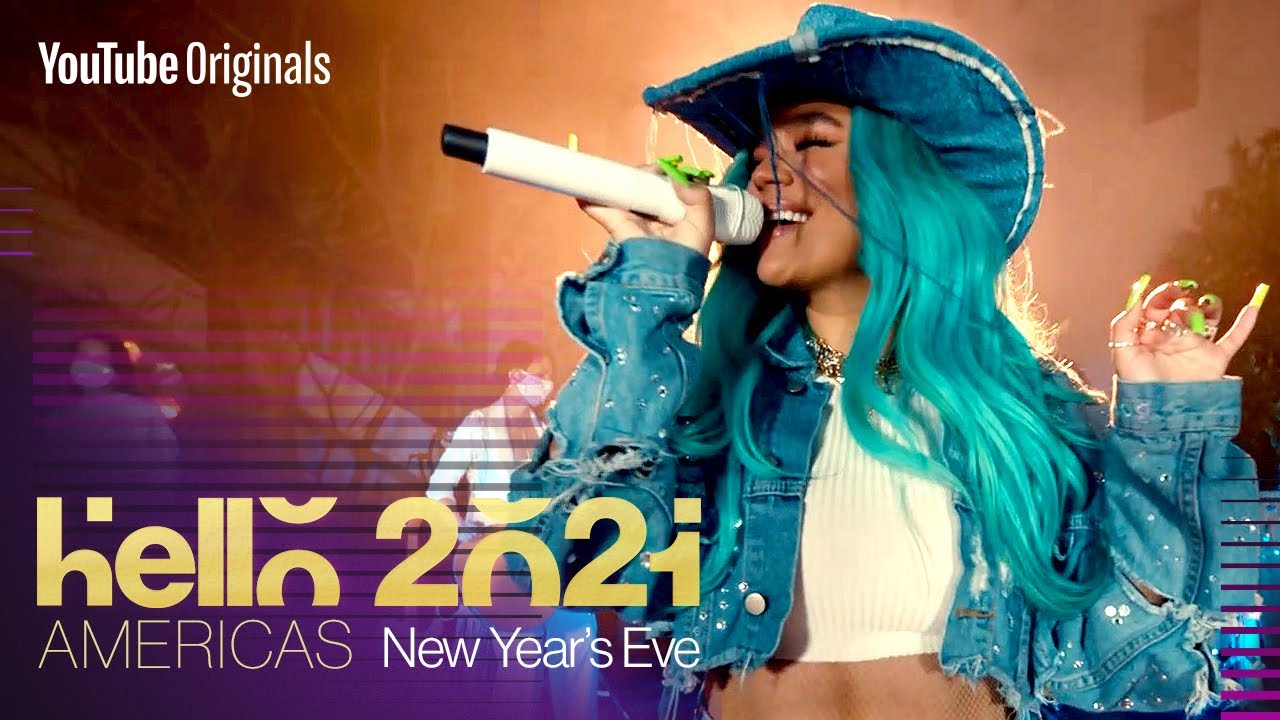 Karol G New Year's Eve Performance   Hello 2021: Americas