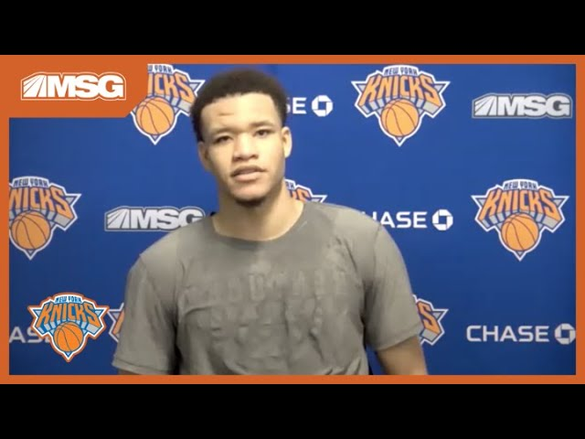 Kevin Knox Ready to Perform vs Toronto Raptors in His Hometown, Tampa Bay | New York Knicks