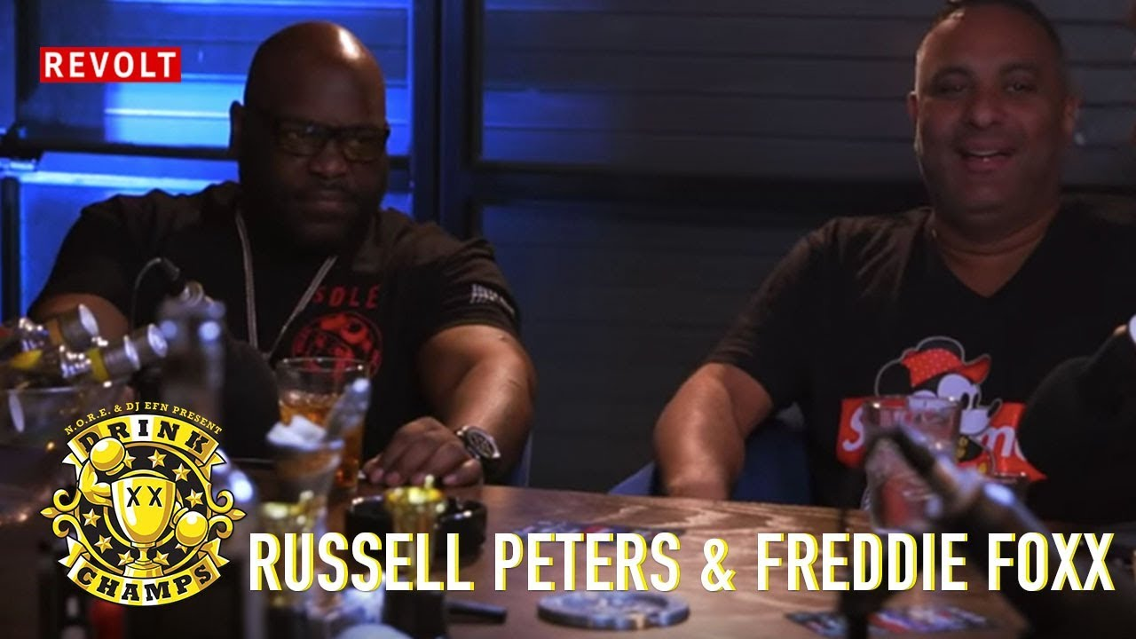 Russell Peters & Freddie Foxx | Drink Champs (Full Episode)