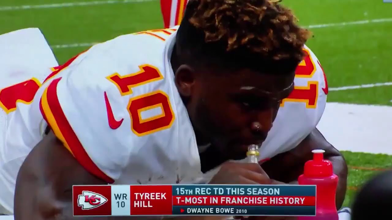 Tyreek Hill Was Caught on Live Tv Casually Drinking Pickle Juice On Sidelines