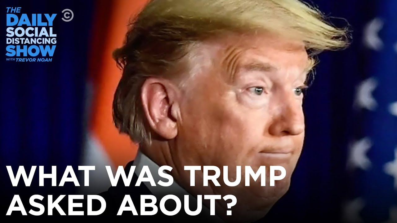 What Was Trump Asked About?   The Daily Show