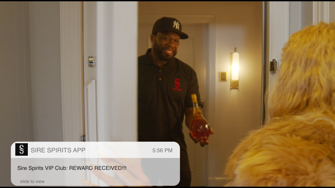 50 Cent Delivers Branson Cognac in Bottle Rover Commercial | Sire Spirits