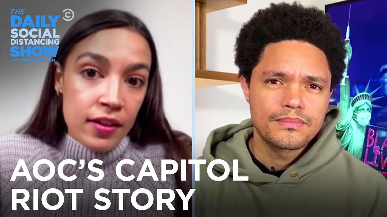 AOC Reveals What Happened To Her During The Capitol Riot | The Daily Social Distancing Show