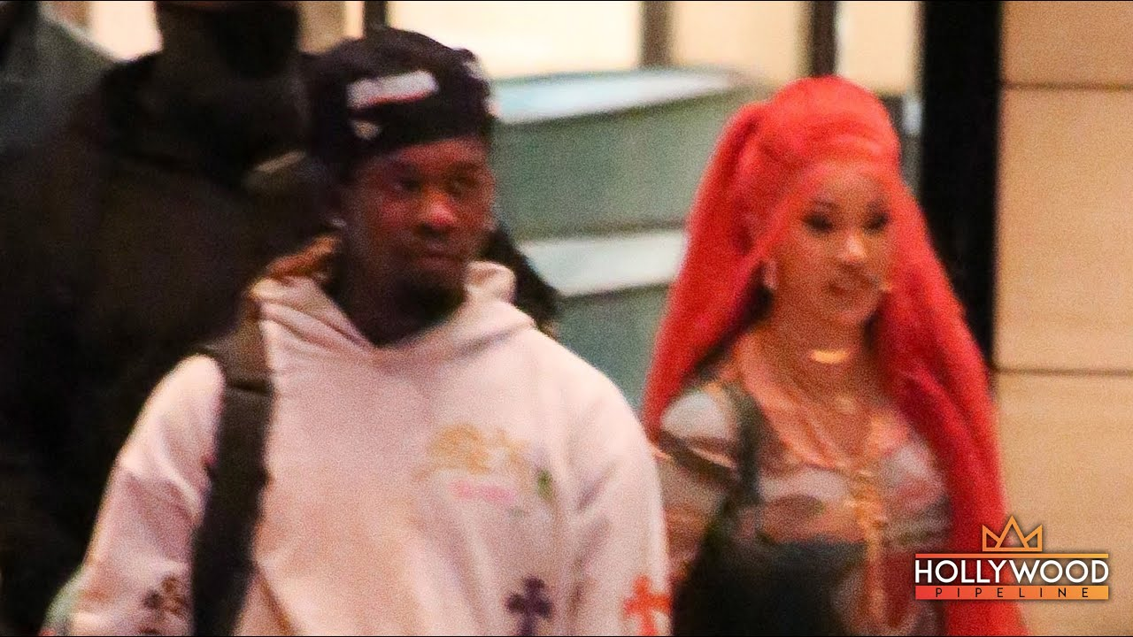 "Cardi B and Offset leaving ""Up"" YouTube Virtual Party and stopping for a TikTok Dance with Lucky Fan"