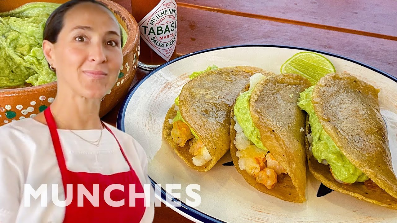 Fried Shrimp Tacos With Avocado Salsa & Tabasco