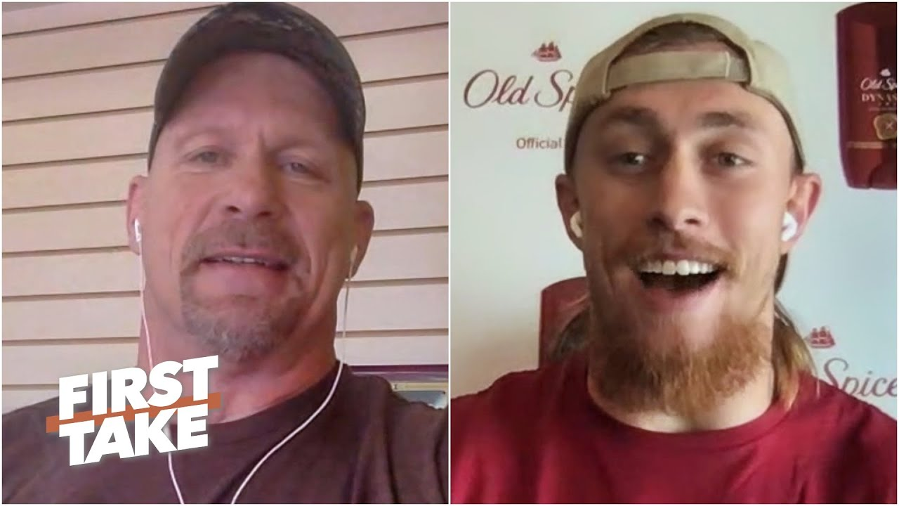 George Kittle gets amped talking to Stone Cold Steve Austin | First Take
