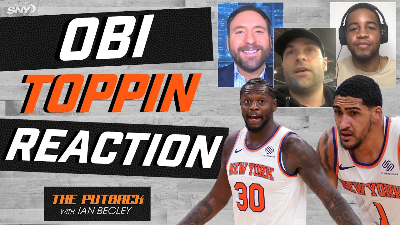 Here's how Julius Randle reacted when the Knicks drafted Obi Toppin | The Putback | SNY