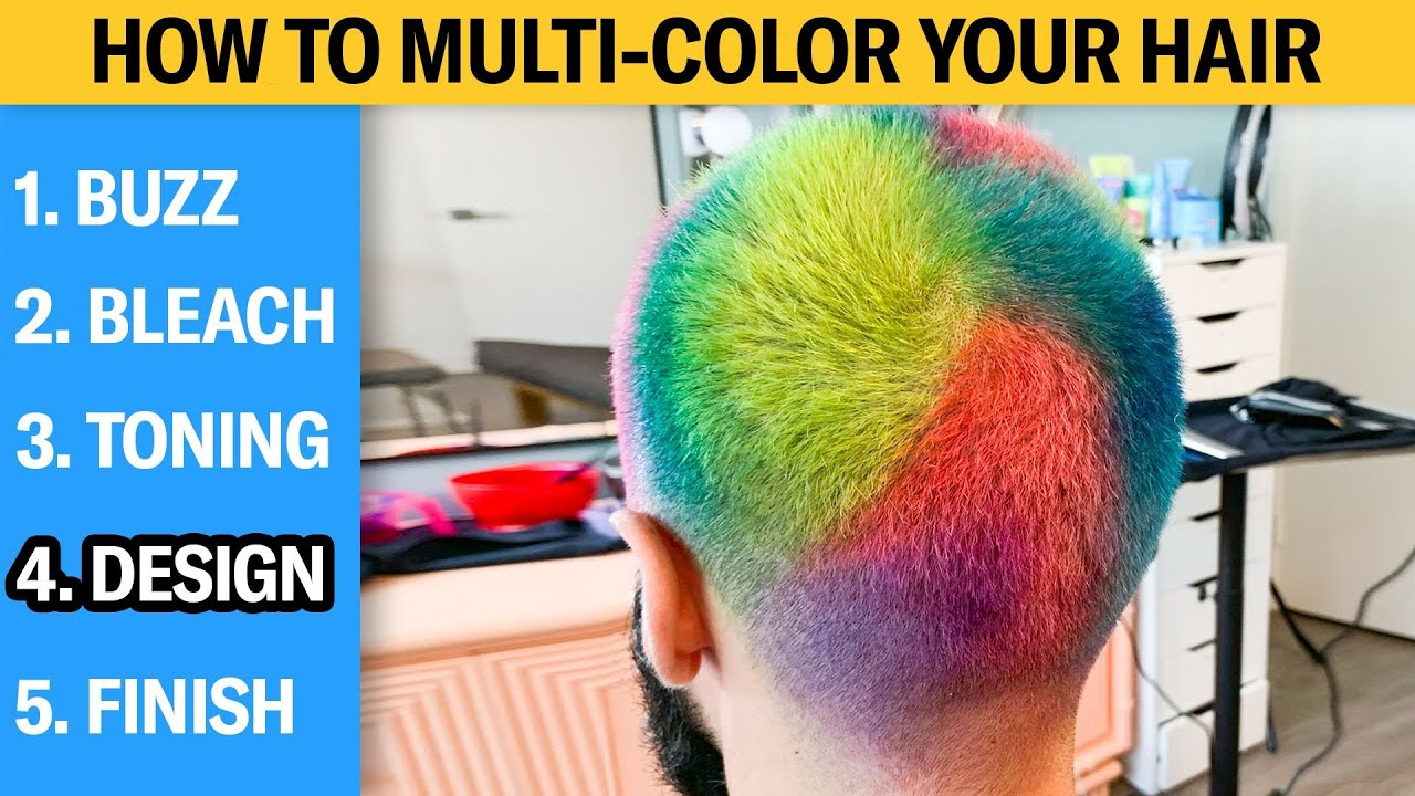 How to Multi-Color Your Hair (5 Step Tutorial)   GQ