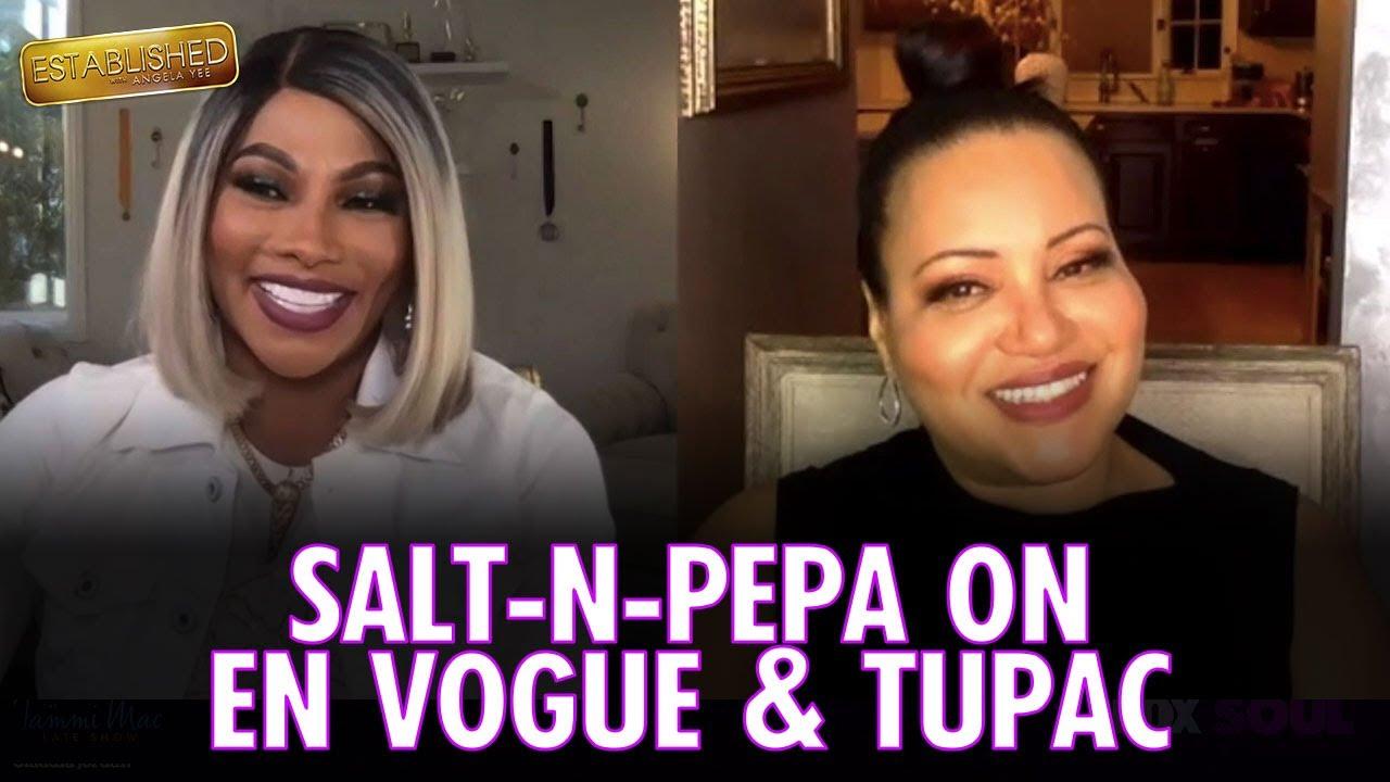 "Salt-N-Pepa on En Vogue, Tupac, & the ""What A Man"" Music Video   Established with Angela Yee"