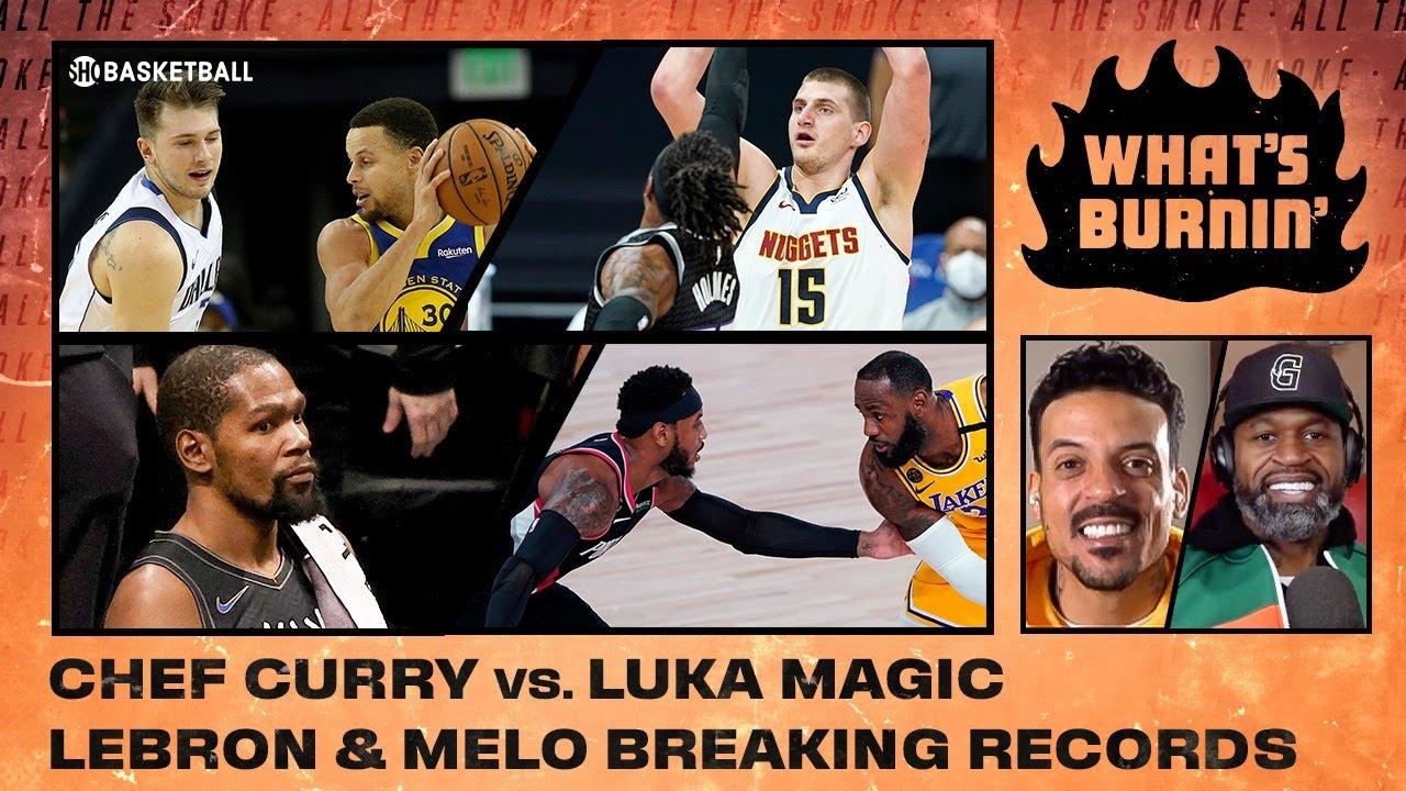 Steph vs. Luka, Lebron & Melo Breaking Records, Hawks-Mavs | WHAT'S BURNIN' | SHOWTIME Basketball