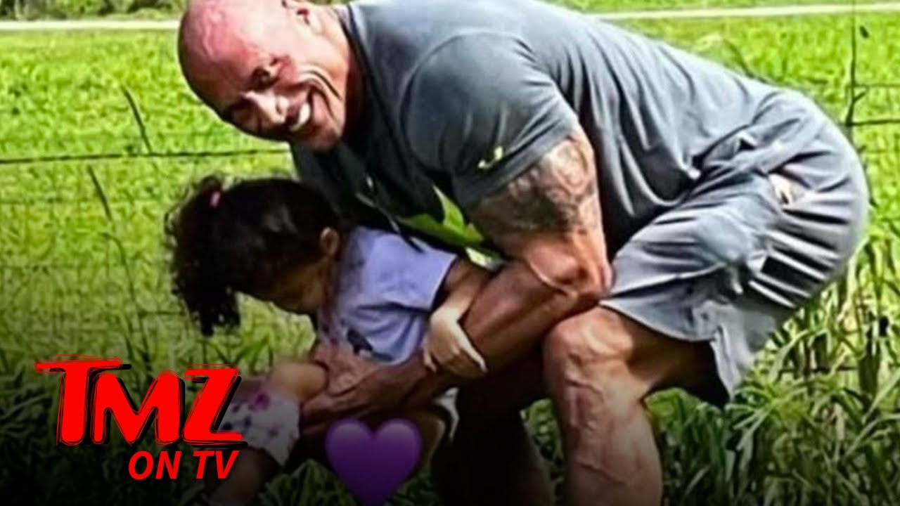 The Rock Posts Relatable Parenting Photo And Gets Dad Shamed | TMZ TV
