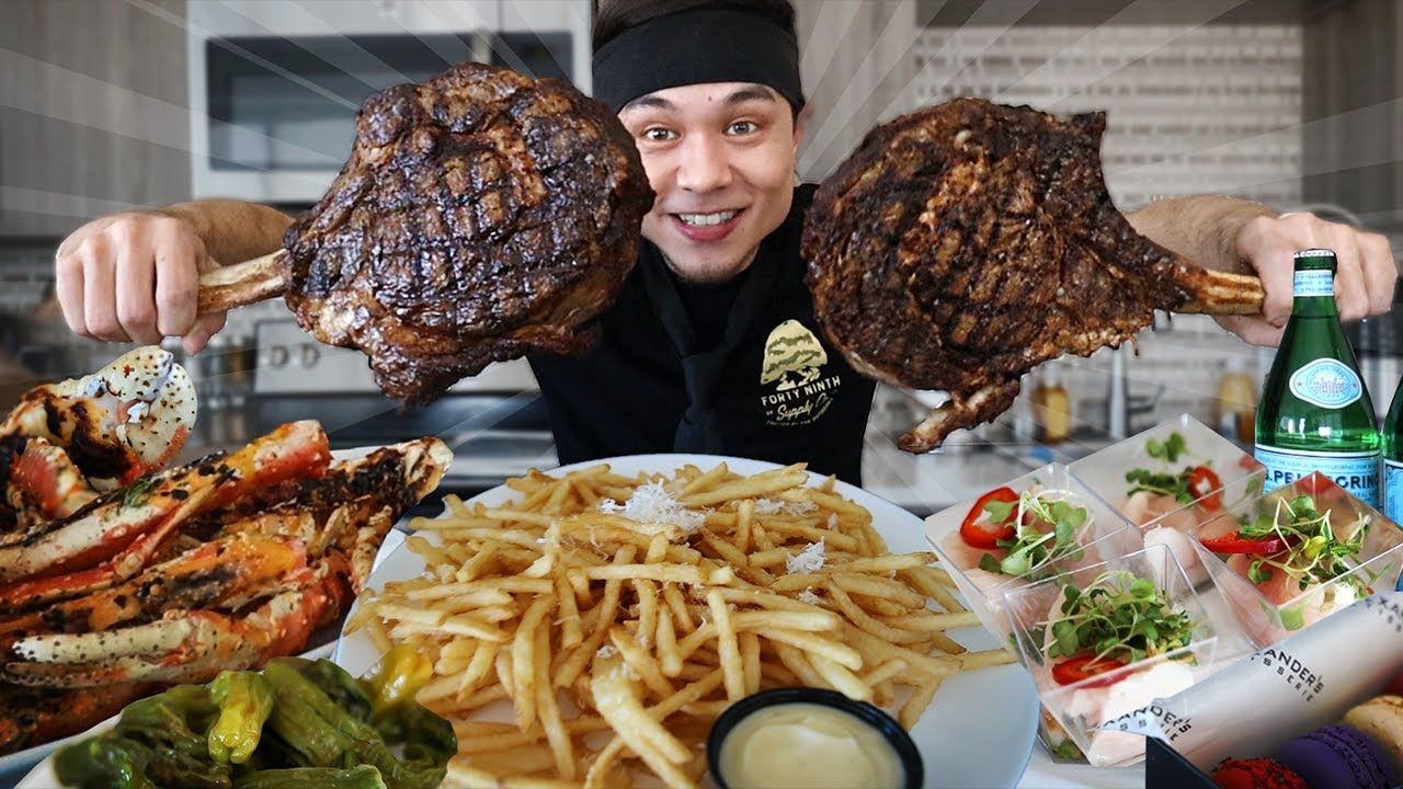 $1000 spent at my Favorite Steakhouse (108oz Wagyu + King Crab + more!!)