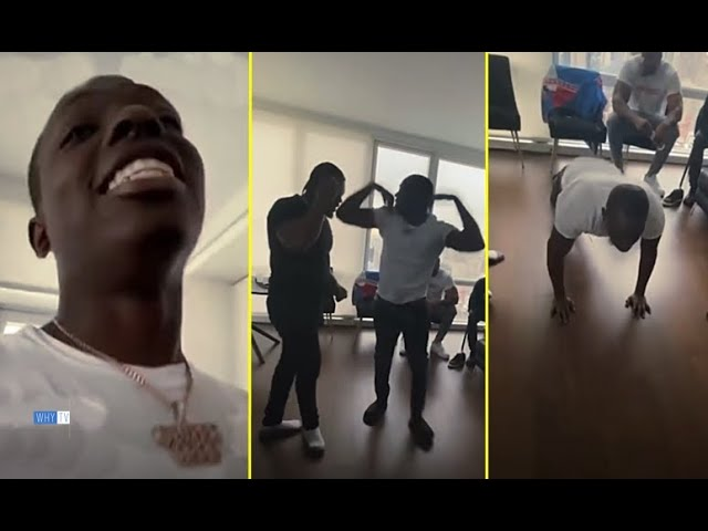 Bobby Shmurda Challenges Rowdy Rebel To Do Push Up Burpees For $10K 'It's Shworkout Time Baby'