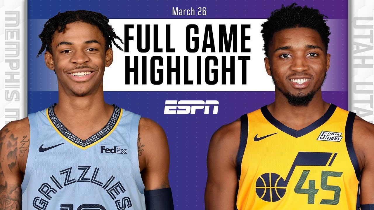 Memphis Grizzlies vs. Utah Jazz [FULL GAME HIGHLIGHTS]   NBA on ESPN