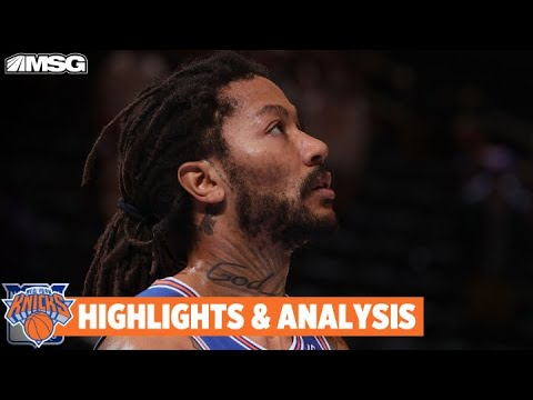 Derrick Rose Comes in Clutch, But Pheonix Suns Take Control and End Win Streak | New York Knicks