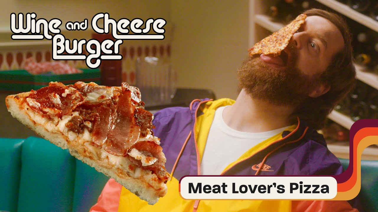 Harley & Lara Pair Domino's Meat Lovers Pizza with Chianti | Wine and Cheeseburger