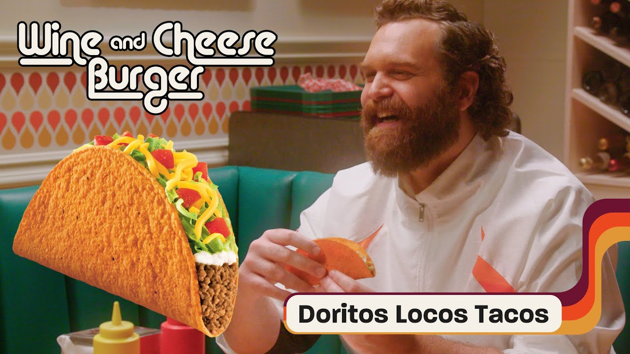 Harley Morenstein and His Partner in Wine Lara Try Doritos Locos Tacos | Wine and Cheeseburger