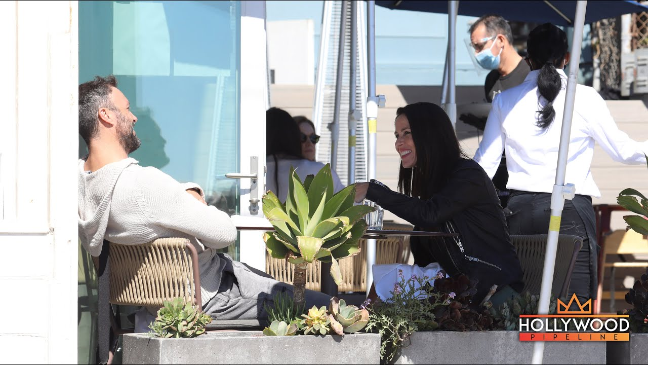 'Kid 90' Soleil Moon Frye and Brian Austin Green bonding at Sunset restaurant in Malibu