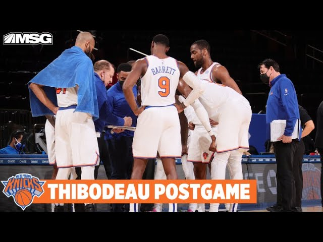 Thibodeau Reacts To 102-96 Win vs. Raptors | New York Knicks