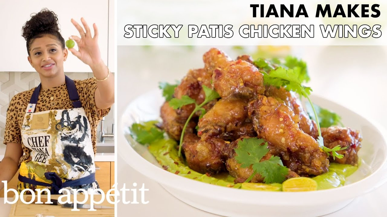 Tiana Makes Sticky Patis Chicken Wings   From the Home Kitchen   Bon Appétit