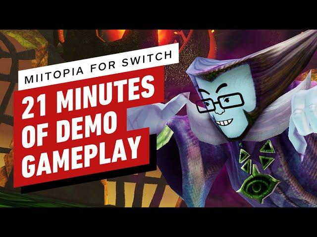21 Minutes of Miitopia Nintendo Switch Demo Gameplay