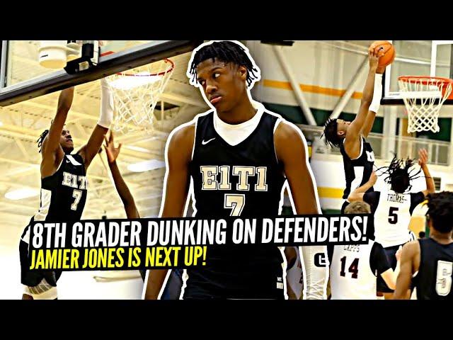 8th Grader Already DUNKING on Defenders!! Jamier Jones Is NEXT UP!