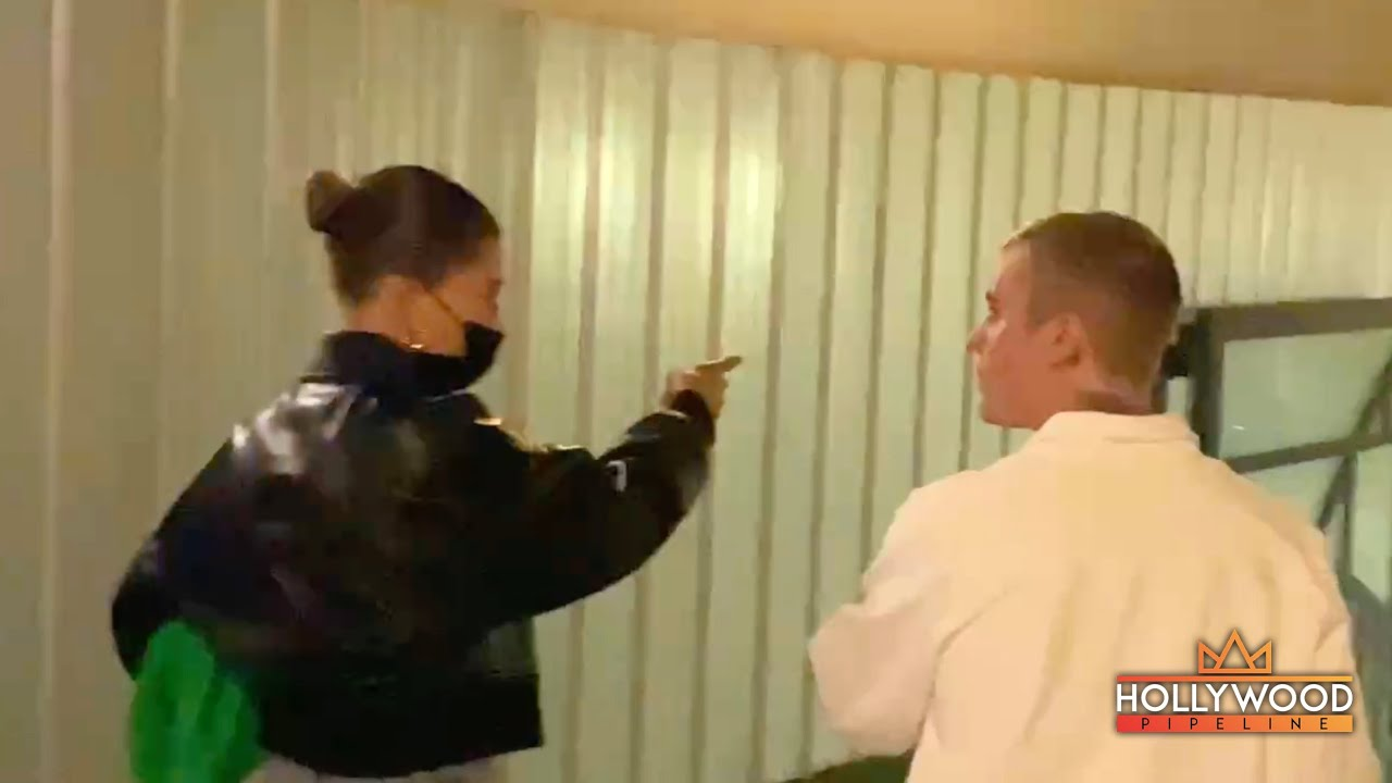Justin Bieber and Hailey leaving Churchome in Los Angeles
