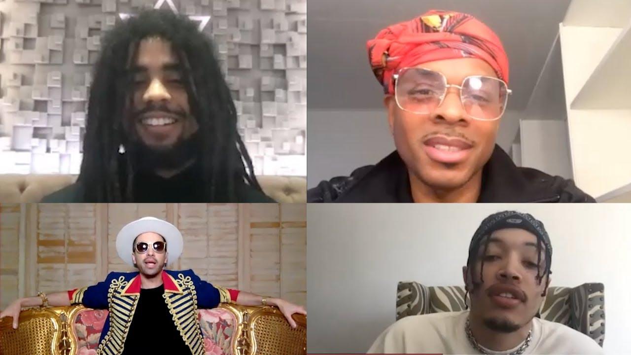 Skip Marley, DJ Cassidy, Stokely & Lonr. Speak at Soul Train Awards Press Conference 2020