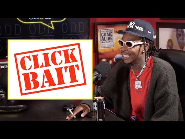 Wiz Khalifa on interviews that just focus on shock value, click bait and making an headline