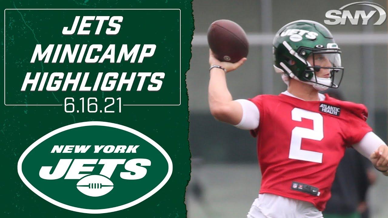 Jets rookie QB Zach Wilson shines under center at Wednesday minicamp | Jets Minicamp | SNY
