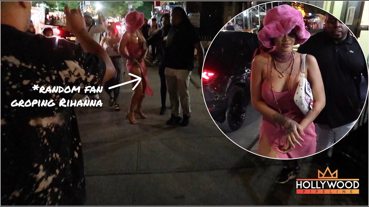 Rihanna groped by fan in New York City