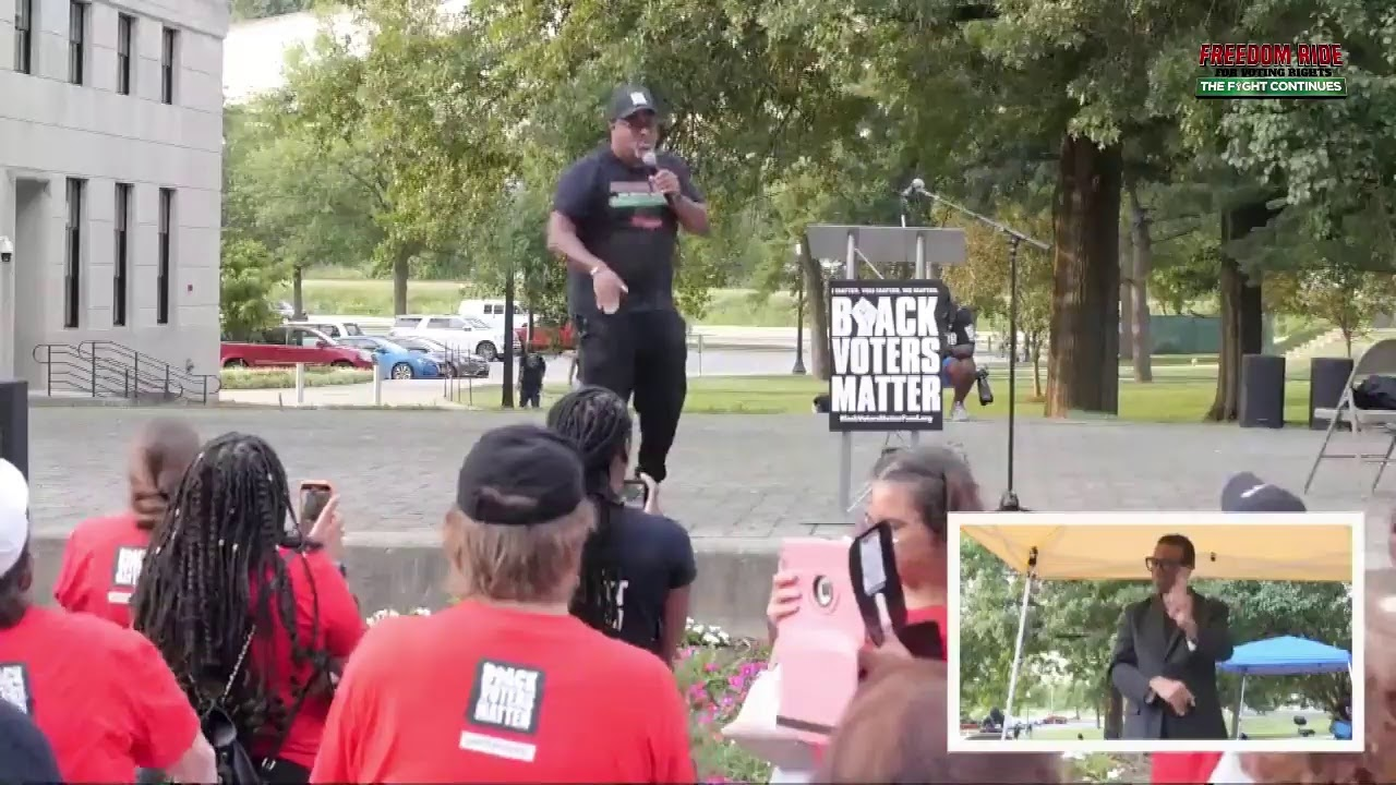 WATCH LIVE! #BlackVotersMatter Freedom Ride for voting rights in Charleston, West Virginia