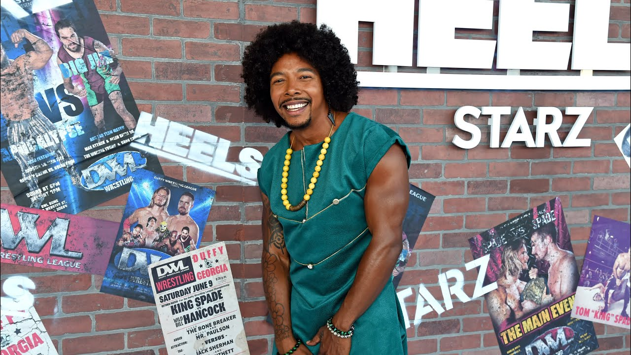 Allen Maldonado has wardrobe malfunction at Heels on Starz! Premiere