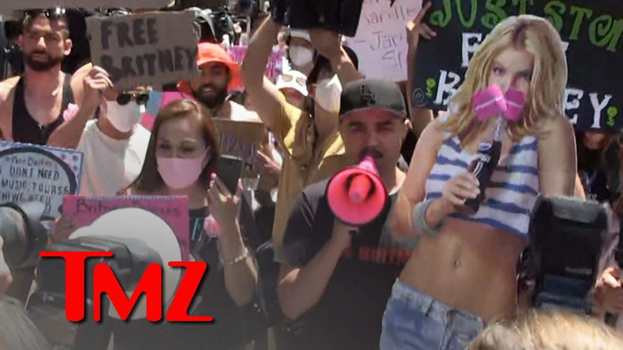 #FreeBritney Supporters Gather Outside Court to Show Their Support   TMZ