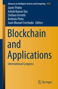Blockchain and Applications 2nd International Congress