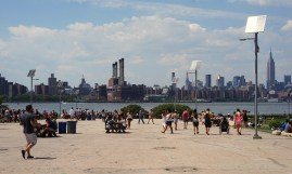 Manhattan view from Smorgasburg