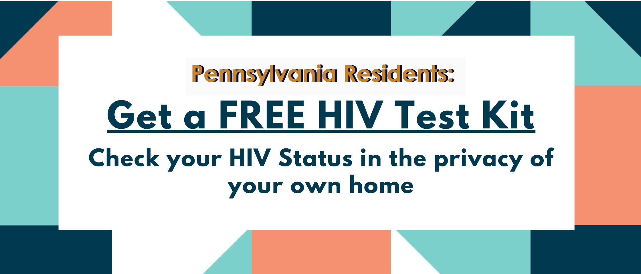 title of website get a free HIV test kit
