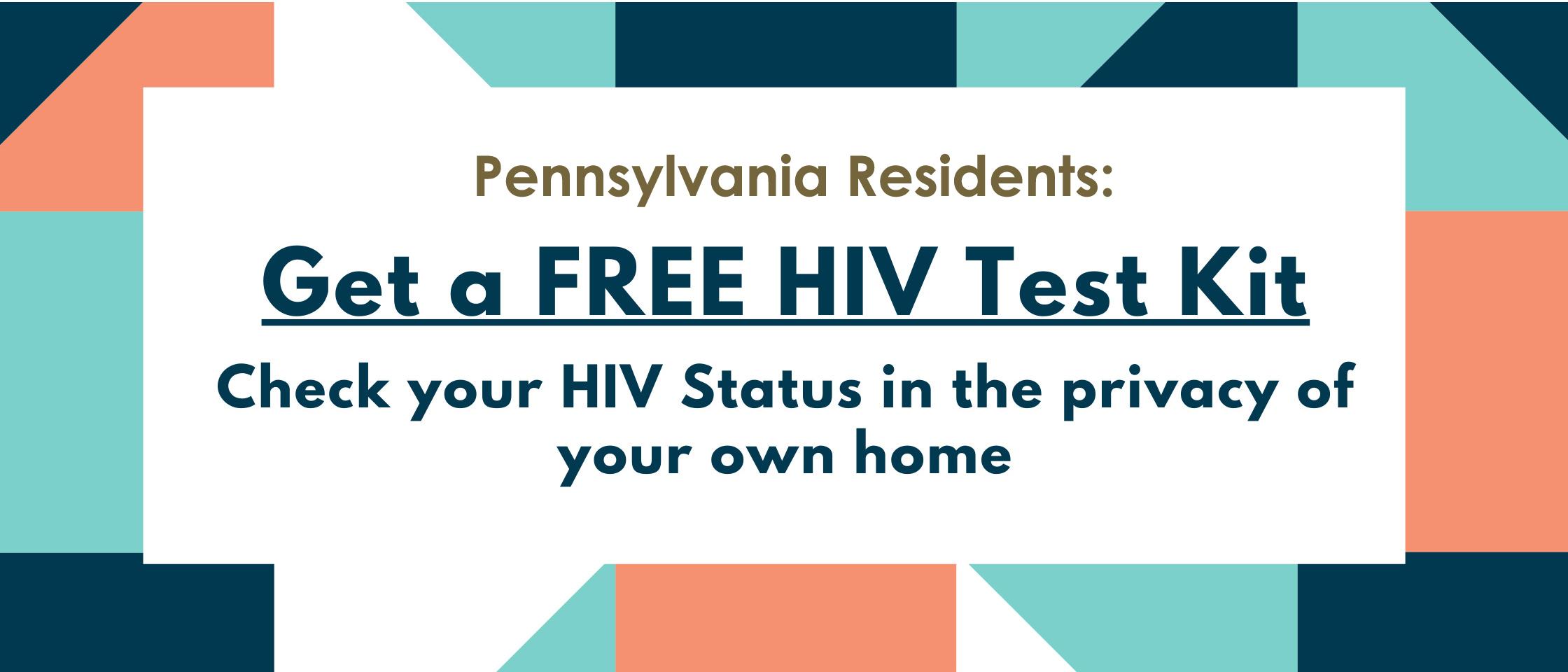 test saying get a free H I V test kit