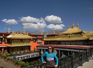 vedere de pe primul si cel mai sacru templu tibetan, Johkang, Lhasa.