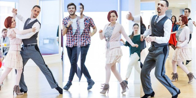 Veselie in pasi de dans la Arthur Murray Dance Studio