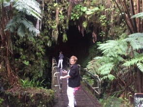 Into the lava tube