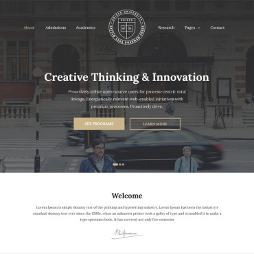 Education website builder