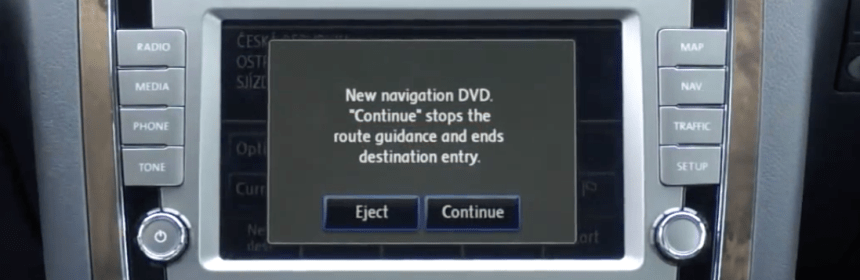 RNS510 Navigation Map DVD