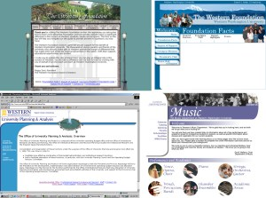 Early academic department website