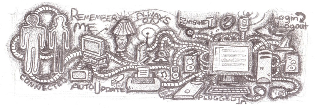 A scan of a drawing I did for my first website