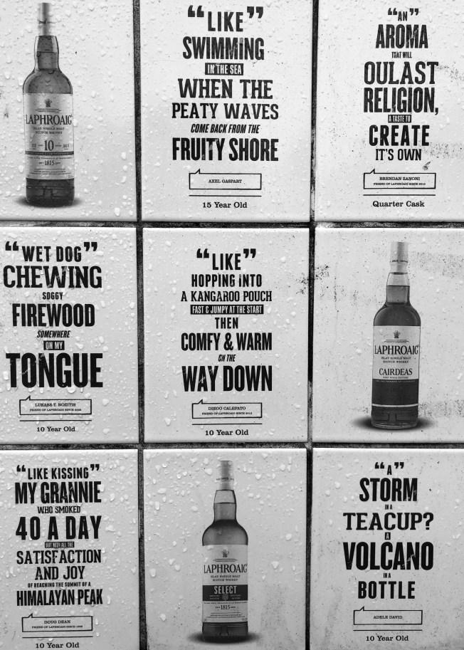 Descriptions of Laphroaig whisky